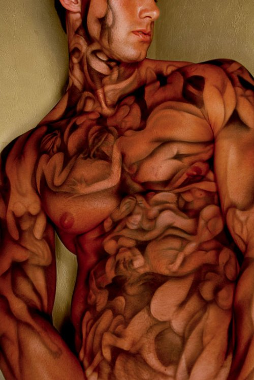 Airbrush Male Body Painting