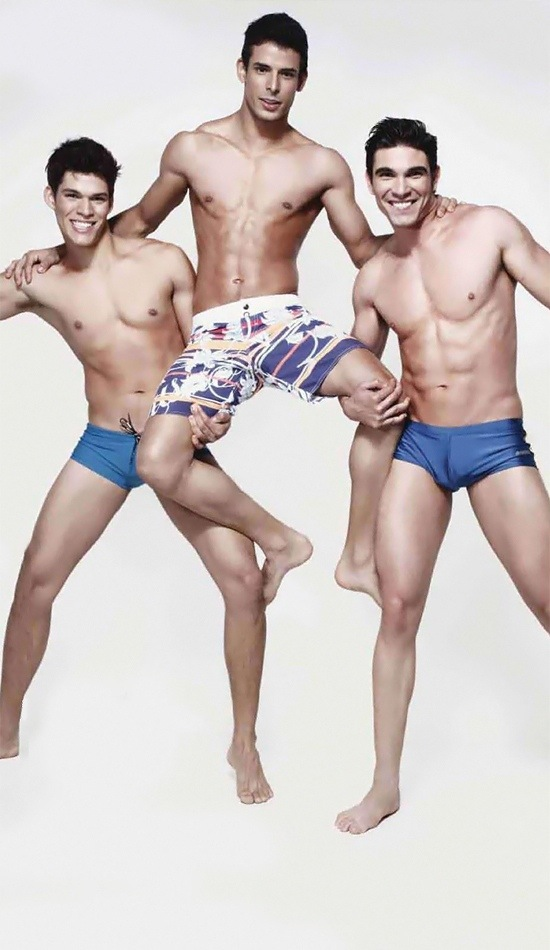 three hot male models