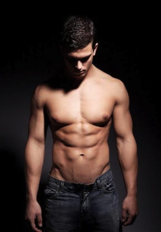 Muscled Male Model Michael Biserta