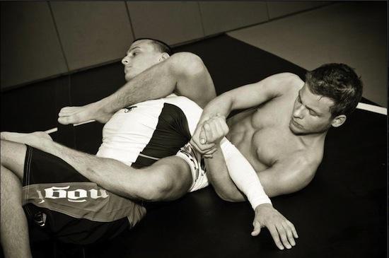Jonathan Lipnicki - hunky wrestling action (5)