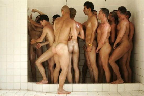 Men in the shower