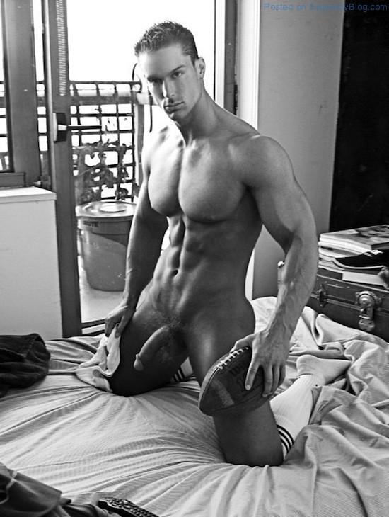 Wet naked male models