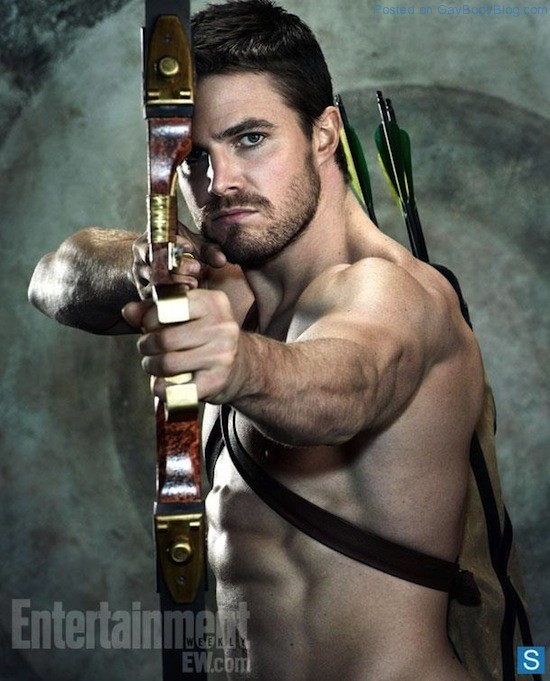 A Shirtless Stephen Amell 2