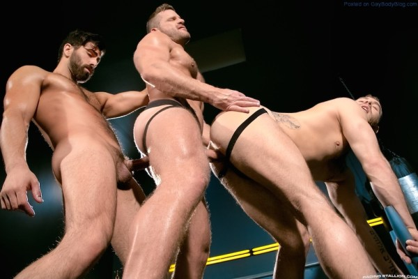 Sporty Muscle Fucking With Landon Conrad, Shawn Wolfe And Adam Ramzi 4