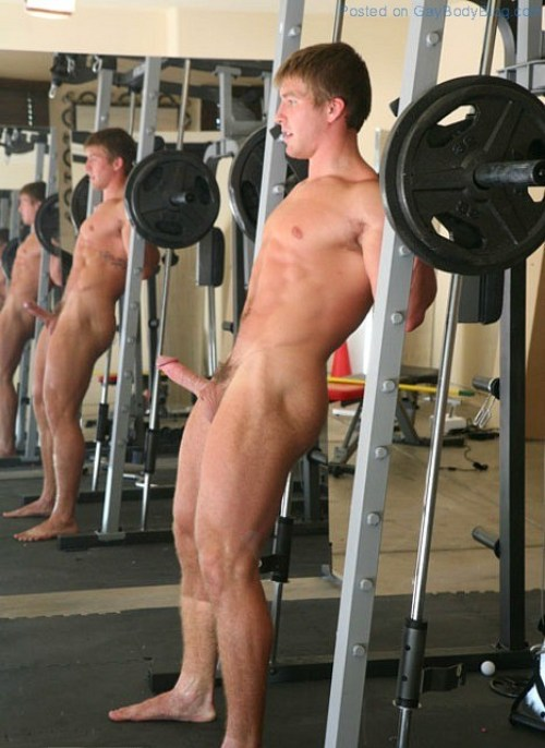 Working out naked porn