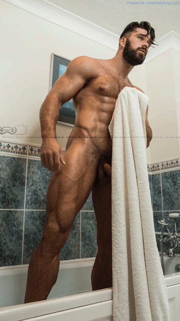 hunks naked Handsome