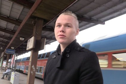 Czech Hunter Train Station Boy