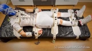 EmoBCSMSlave Segufix tied up and swim cap breath controlled