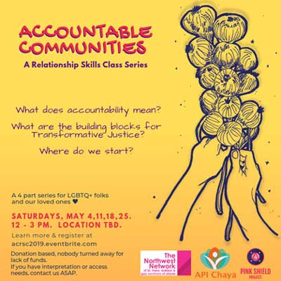 flyer for accountable communities relationship skills class