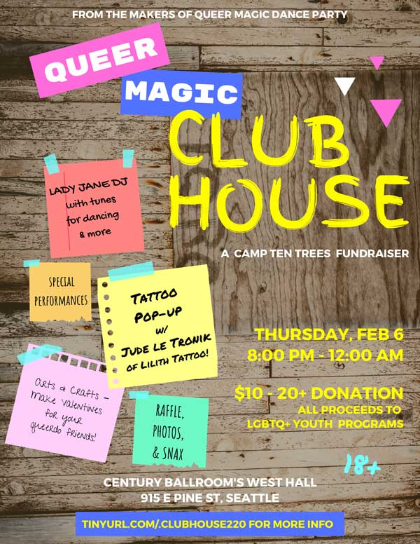 Queer Magic Clubhouse flyer