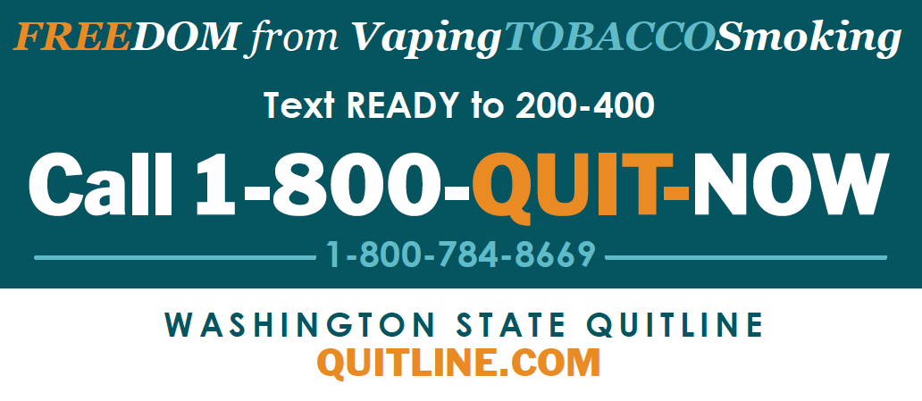 Quitline Phone Number - 1-800-QUIT-NOW