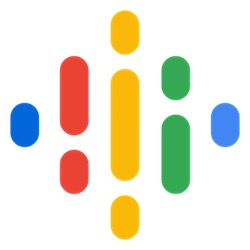 Google podcast logo - audio bars of varying colors