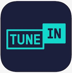 tune in logo in blue