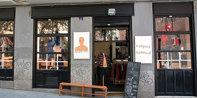 A collection of three stores in one of Madrid's hippest neighbourhoods.