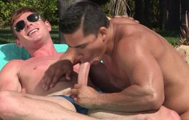 Speedo Couple Poolside