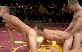 Foursome Wrestle/Sex