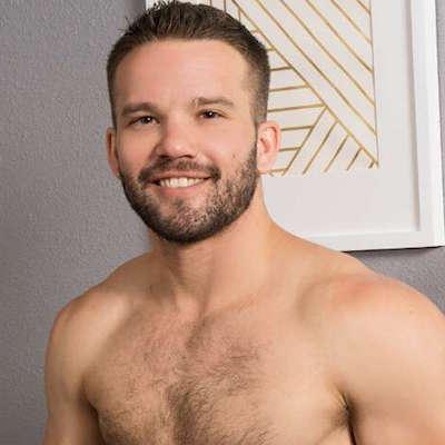 Handsome gay uncut jock Jackson at Sean Cody