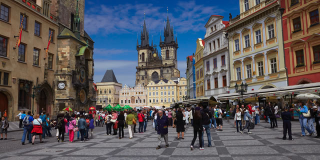 Much of your time will be spent exploring the Medieval streets of the old town. Great for restaurants, antiques and Czech beer.