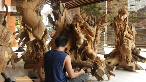 Shopping - Wood carvings