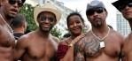 Revellers at Rio Gay Pride