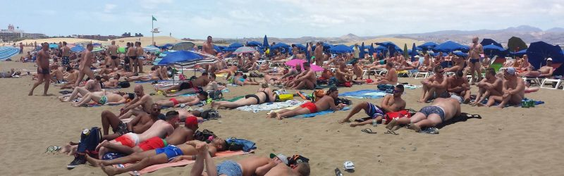 Gays am Strand in Playa del Ingles