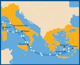 Schwule Mittelmeer-Kreuzfahrt
