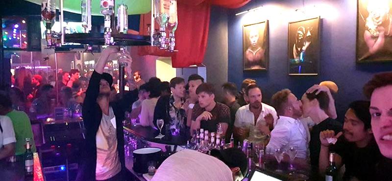 Inside gay bar Vienna
