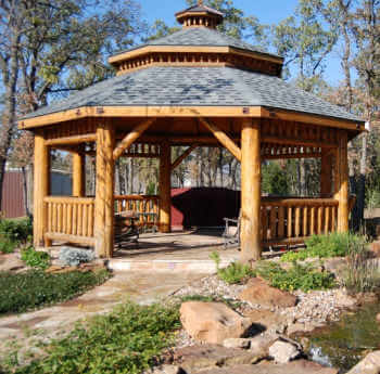 Log Octagon Gazebo Kit Log Gazebos Gazebo Depot