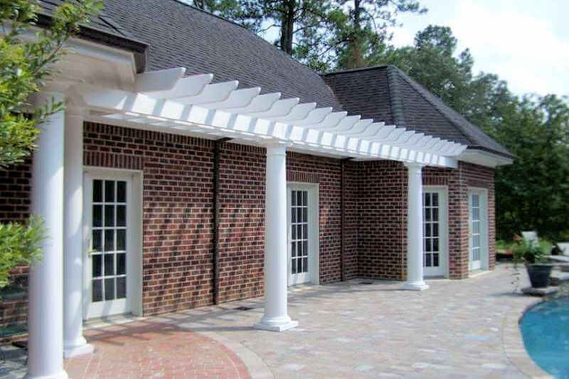 Gazebo Depot Pre Designed Attached Fiberglass Pergola