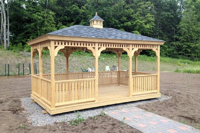 Rectangle Pine And Cedar Gazebos Gazebo Depot