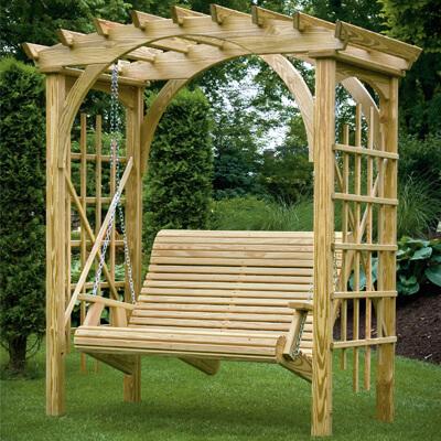 Roman Arbor Swing Porch Swings Gazebo Depot