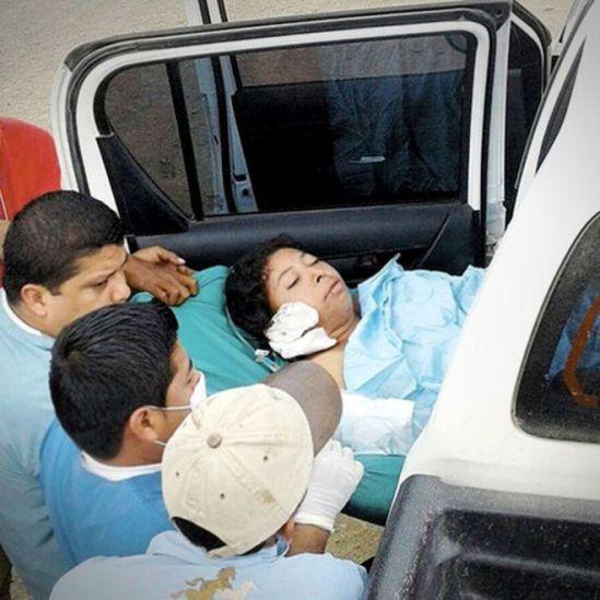 Vilma chega ao hospital