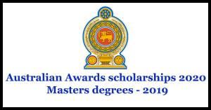 Australian Awards scholarships 2020 Masters degrees - 2019