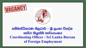 Coordinating Officer - Sri Lanka Bureau of Foreign Employment