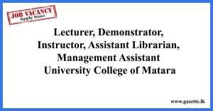 Lecturer,-Demonstrator,-University-College-Matara