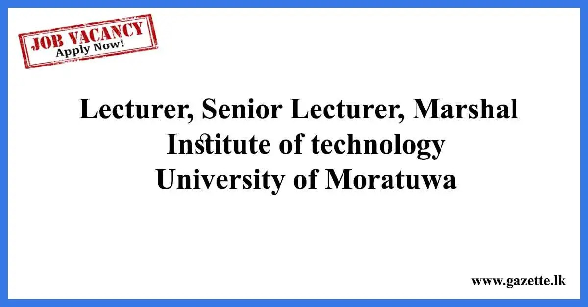 Lecturer,-Senior-Lecturer,-Marshal-Institute-of-technology,-University-of-Moratuwa