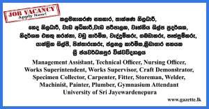 Management-Assistant,-Technical-Officer,-Nursing-Officer--University-of-Sri-Jayawardenapuara