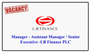 Manager - Assistant Manager / Senior Executive -LB Finance PLC