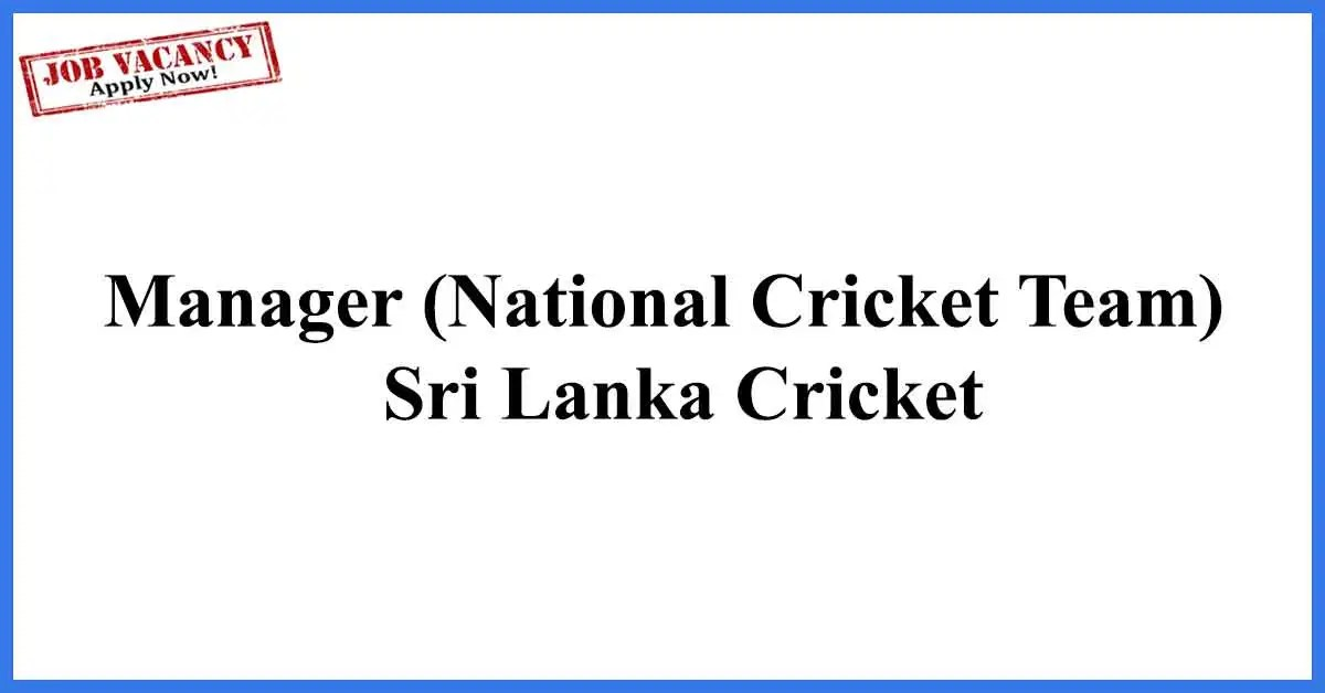 Manager-National-Cricket-Team