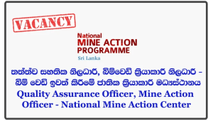 Quality Assurance Officer, Mine Action Officer - National Mine Action Center