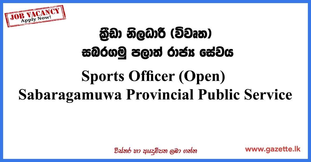 Sports-Officer-Open
