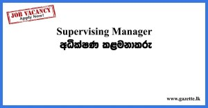 Supervising Manager