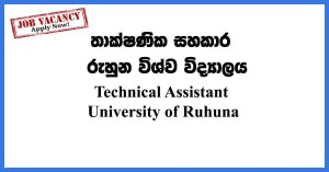 Technical-Assistant-University-of-Ruhuna