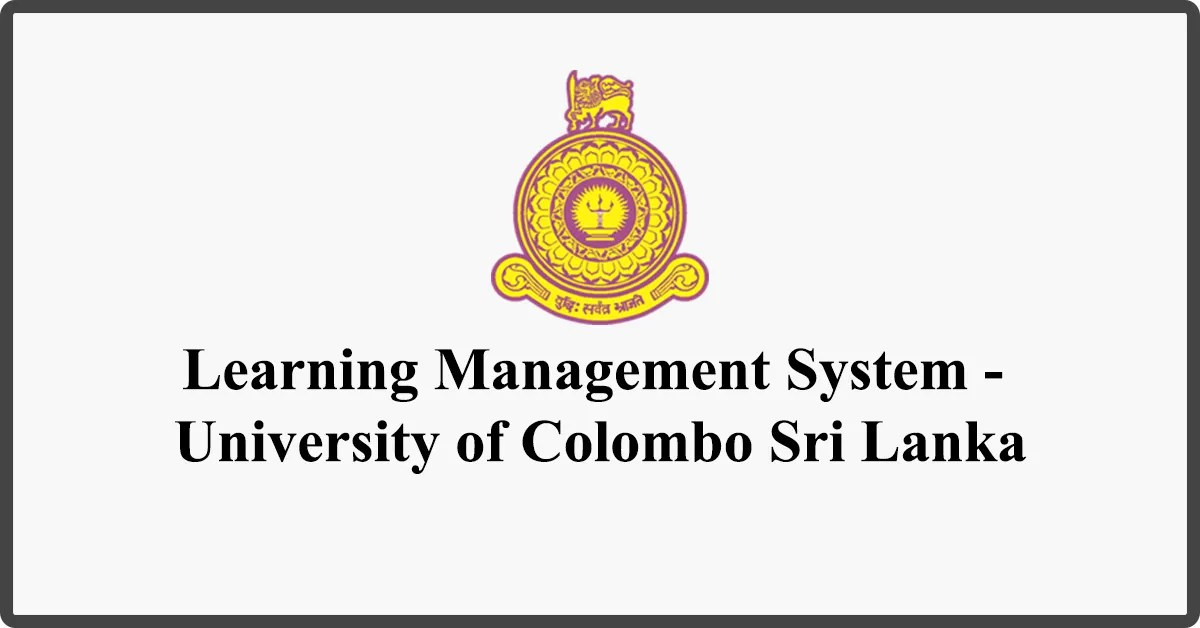 Study Online - Learning Management System - University of Colombo Sri Lanka