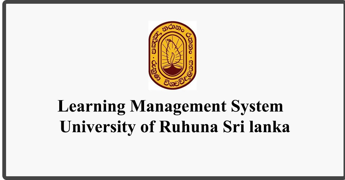 Study Online - Learning Management System - University of Ruhuna Sri lankaStudy Online - Learning Management System - University of Ruhuna Sri lanka