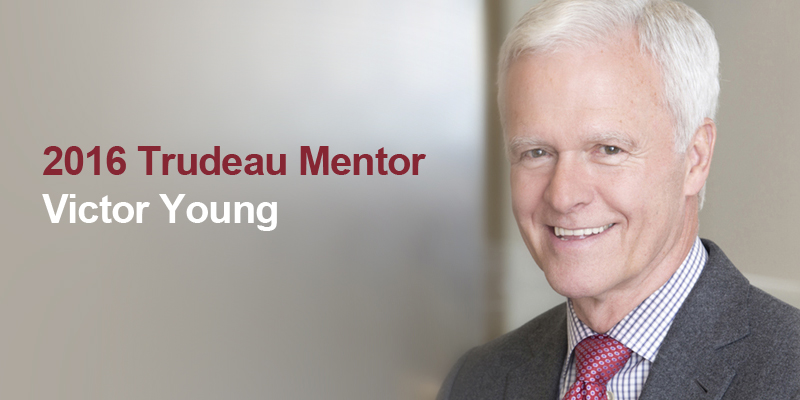 Close up photo of Victor Young, an alumnus of Memorial University who has been chosen as a 2016 Trudeau Mentor.