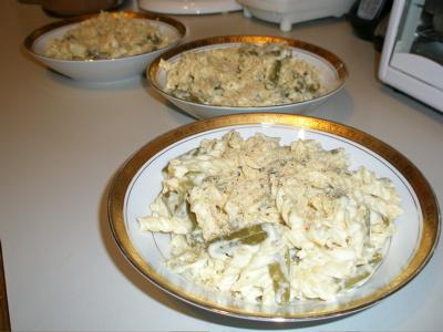 Sage & Green Bean Alfredo Pasta