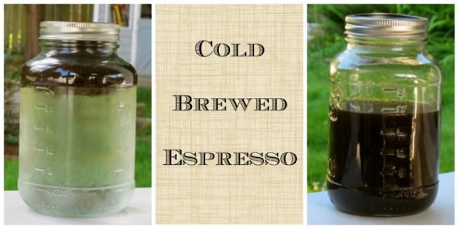 Cold Brewed Espresso start to finish