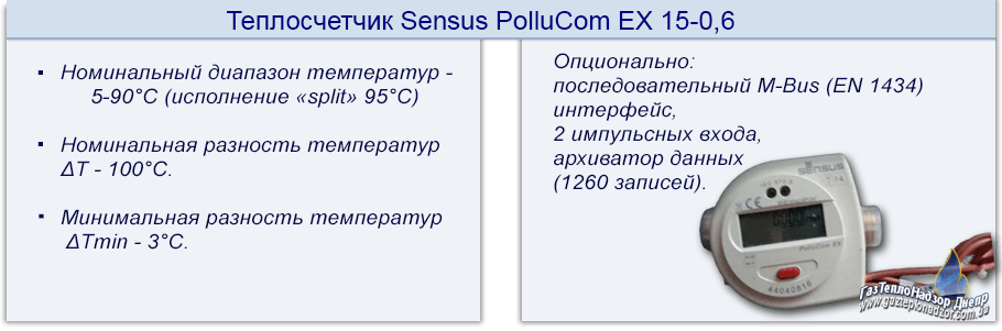 Теплосчетчик Sensus PolluCom EX-15-0,6