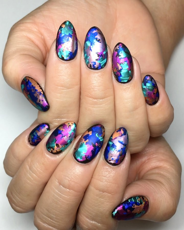 Multi Coloured Nail Art Patterns